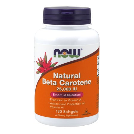 Beta Carotene Supplements (NOW Supplements, Natural Beta Carotene, 180 Softgels )