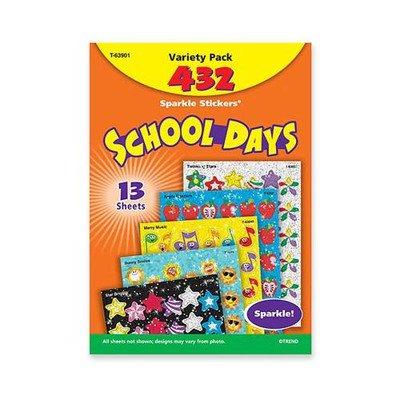 Trend School Days Variety Pack Sparkle Sticker TEP63901 - Trendy Day