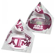 Paragon Innovations TexasAMPYRSETLOGO STA408 Crystal pyramids with Texas A&M Kyle Field and logo images at the bottoms  giving a kaleidoscope   effect-NCAA