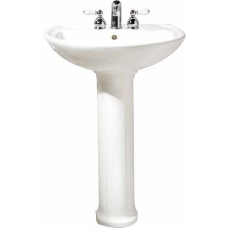 American Standard 0236.411.020 Cadet Two-Piece Pedestal and Lavatory with Three Faucet Holes (4 Centers), Available in Various Colors