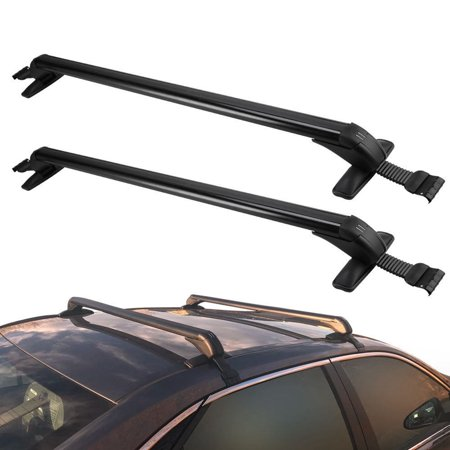 2Pcs/set Adjustable Aluminum Car Top Luggage Roof Rack Cross Bar Carrier Window Frame