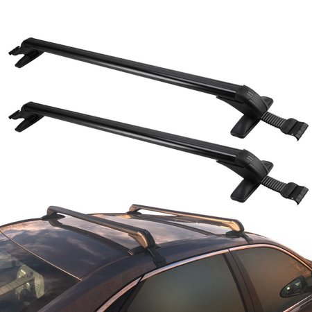 2Pcs/set Adjustable Aluminum Car Top Luggage Roof Rack Cross Bar Carrier Window -