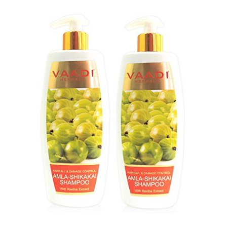 Amla Shikakai & Reetha Herbal Shampoo for Hair Fall & Damage Control All Natural