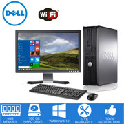 "Dell - Optiplex Desktop Computer PC ? Intel Core 2 Duo - 4GB Memory - 160GB Hard Drive - Windows 10 - 19"" LCD (Refurbished)"