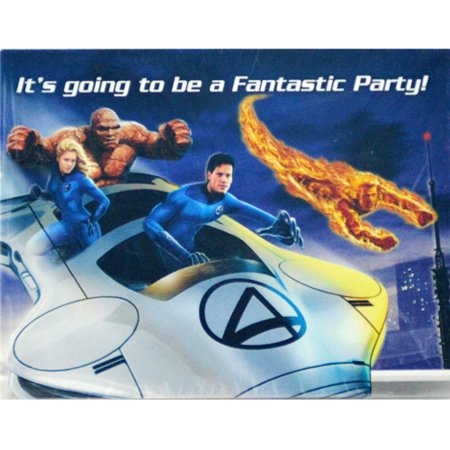 Fantastic Four 'Rise of the Silver Surfer' Invitations (8ct) - Surfer Supplies