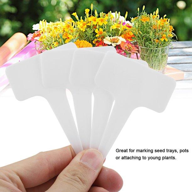 Ejoyous 50 Pcs Plastic Plant T Type Tag