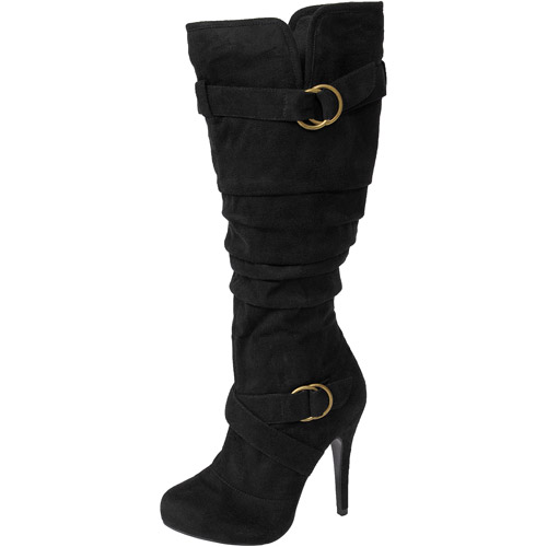 Brinley Co. - Women's Faux Suede Slouchy Tall Boots
