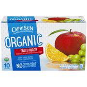 (4 Pack) Capri Sun Organic Fruit Punch Juice Drink, 10 - 6 fl oz Pouches (Sun Organic)