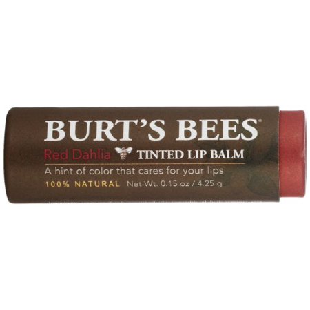 Burt's Bees 100% Natural Tinted Lip Balm, Red Dahlia with Shea Butter & Botanical Waxes – 1 Tube - image 2 of 4