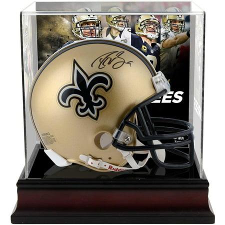 Drew Brees New Orleans Saints Autographed Riddell Mini Helmet with Deluxe Mini Helmet Case - Fanatics Authentic Certified