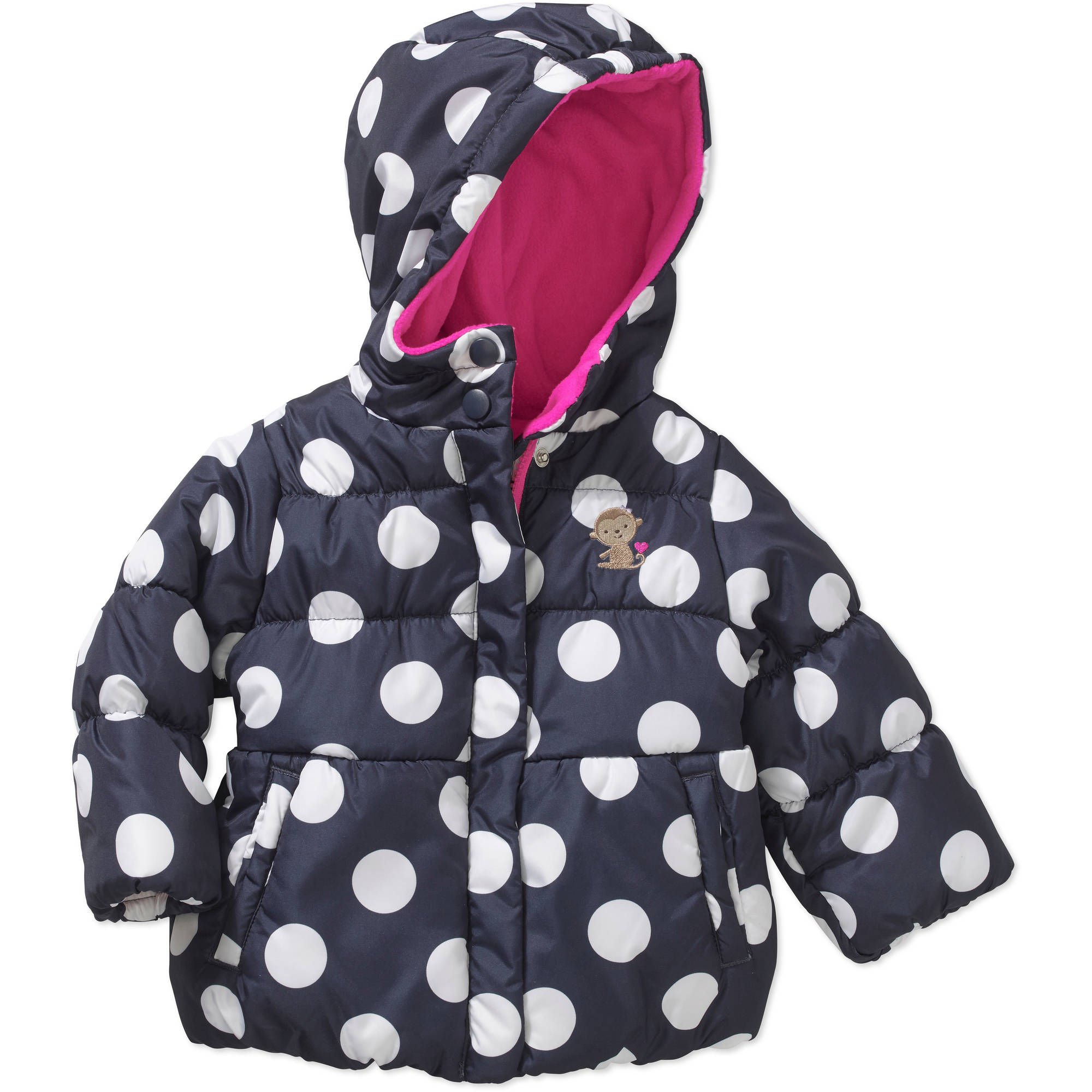 Child of Mine by Carter's Newborn Baby Girl Peplum Bubble Jacket