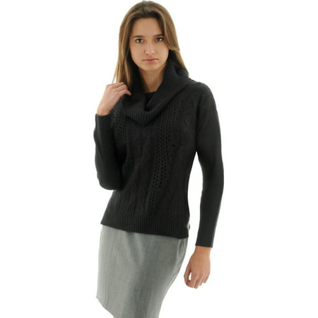 Gorgeous Black Pullover Sweater Womens Cowl Neck Cable Knit Sweaters Cable Cowl Neck Sweater