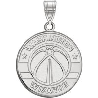 LogoArt Sterling Silver Rhodium-plated NBA Washington Wizards Large Pendant