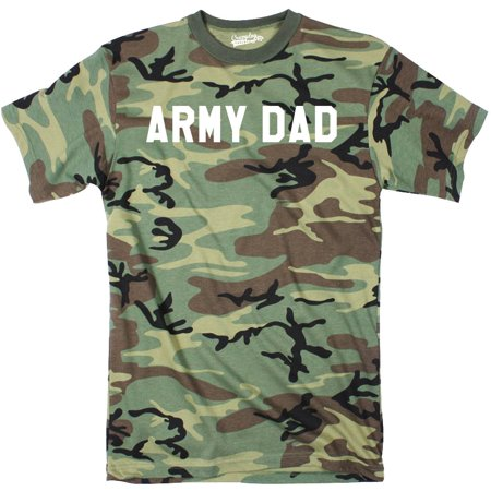 c85233ff Crazy Dog Funny T-Shirts - Mens Army Dad Cool Hunting Military Full  Camouflage Print Father's Day T Shirt - Walmart.com