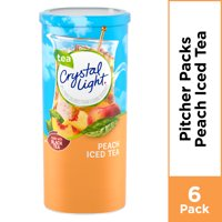 (12 Pitcher Packs) Crystal Light Peach Iced Tea, Low Caffeine Powdered Drink Mix, 1.5 oz cans