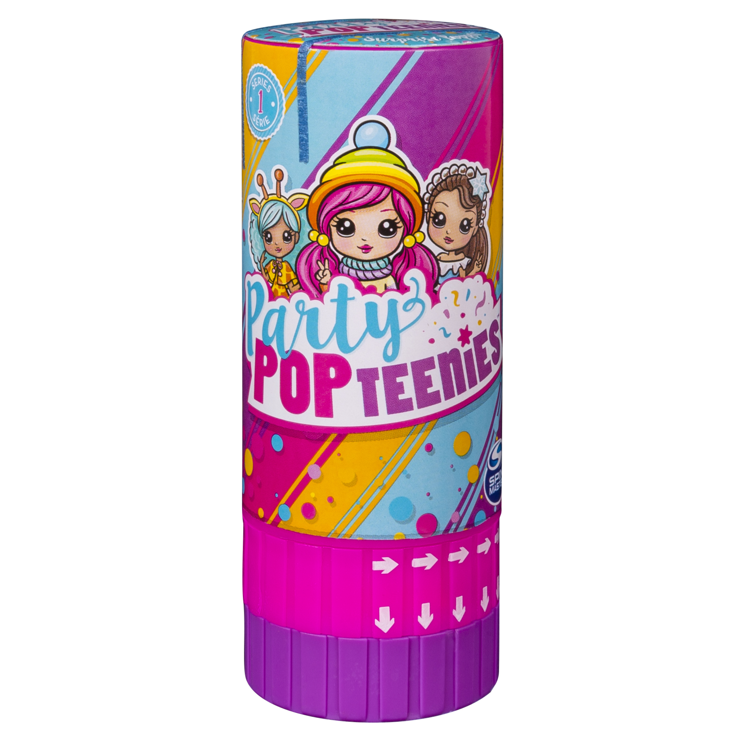 Party Popteenies - Surprise Popper with Confetti, Collectible Mini Doll and Accessories for Ages 4 and Up (Styles May Vary)