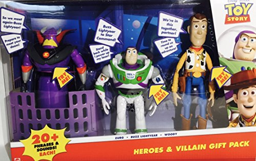 Disney Pixar Toy Story Heroes & Villain Gift Pack, Talking Zurg, Buzz Lightyear & Woody by Disney