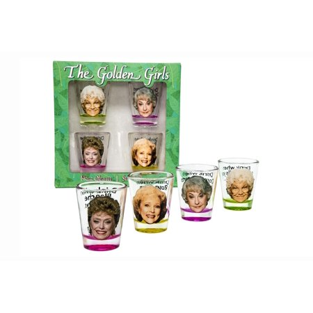 Golden Girls Shot Glasses Set of 4 (Bulk Glass Shot Glasses)