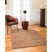 Natural Area Rugs Adore Brown Leather Rug, 4' x 6'
