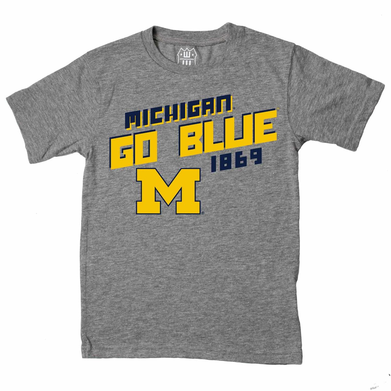 Michigan Wolverines Youth NCAA Biggest Fan T-Shirt  - Charcoal