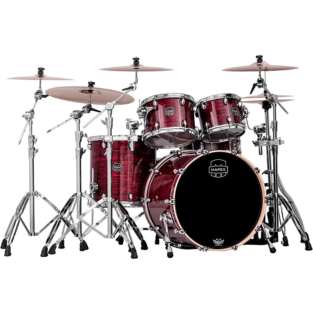 Mapex Saturn V 4-Piece Rock Shell Pack Red Strata Pearl Custom Wrap by Mapex