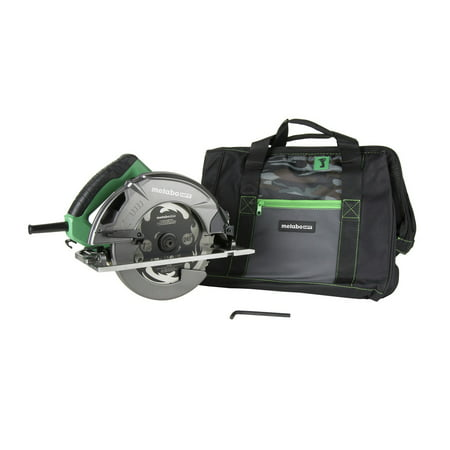 Metabo HPT C7SB3M 15 Amp Single Bevel 7-1/4 in. Corded Circular Saw with Blower Function, and Aluminum Die Cast Base