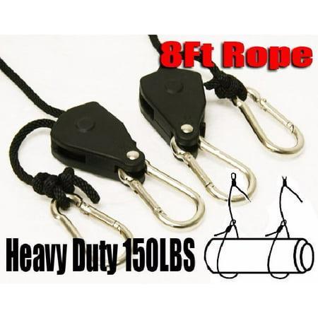 XtremepowerUS Adjustable Ratchet Rope Hanger, - Adjustable Hangers