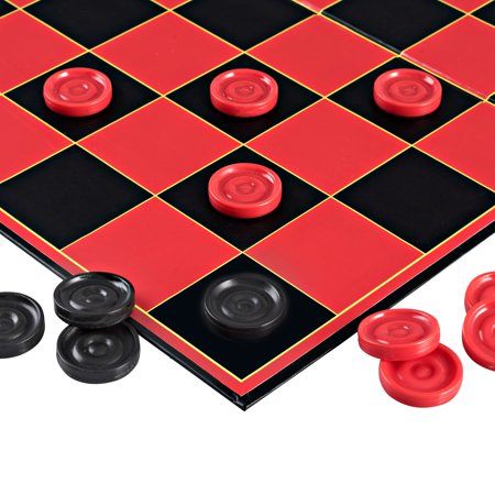 Point Games Classic Checkers Board Game, with Super Durable Board, Best Folding Board Game for the entire