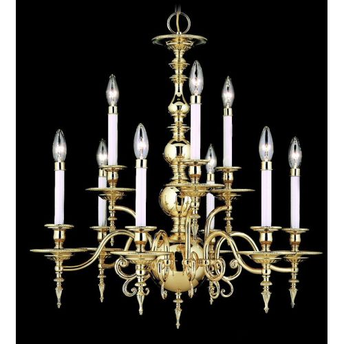 Framburg FR 7449 Williamsburg 9 Light Up Lighting Chandelier from the Kensington