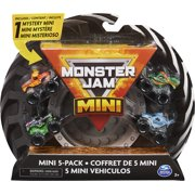 Monster Jam, Official Mini Collectible Monster Trucks 5-Pack with 1 Mystery Truck, 1:87 Scale