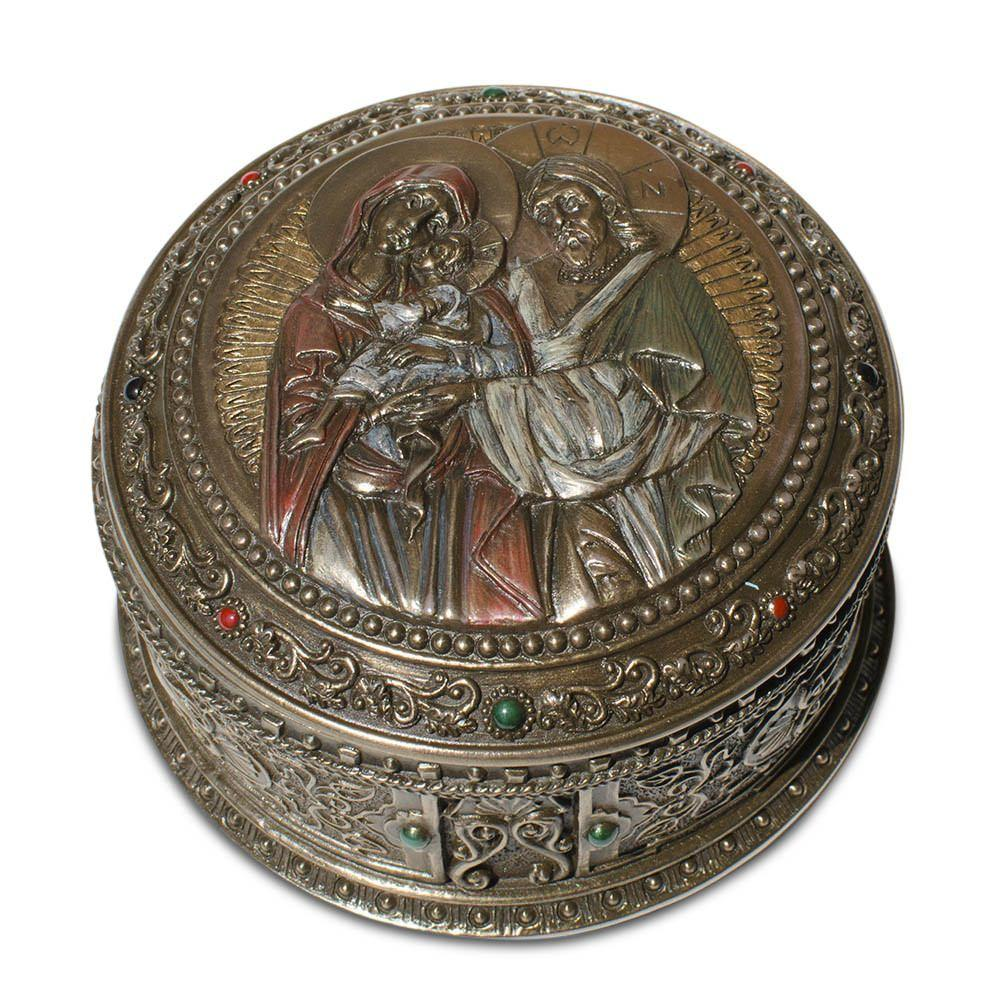 Unicorn 8; (D) Holy Family Icon Rosary Keepsake Box
