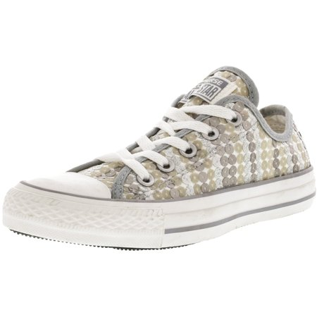 Converse Women s Chuck Taylor All Star Sequins Silver Ankle-High Fashion  Sneaker - 5M ... 63b8c5bc2