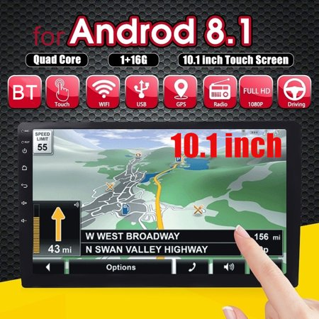 2019 New 10.1'' Double DIN Android 8.1 16+1G WiFi 3D bluetoot h GPS Navigator Car Multimedia MP5 Player Online Free Map Update Steering Wheel Control FM/AM Radio Hand-Free (Best Call Recording App For Android 2019)