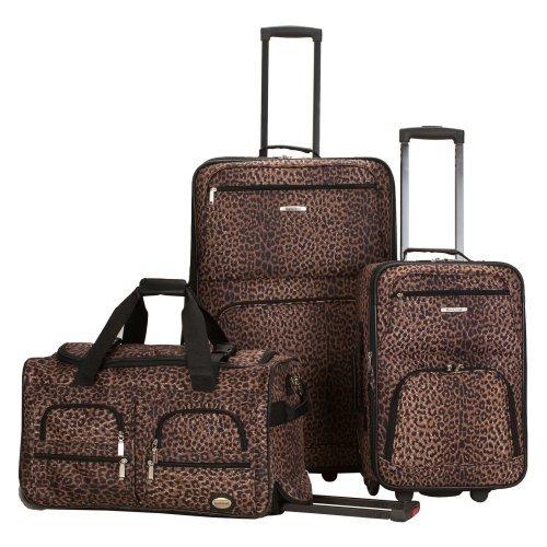 Rockland Luggage 3-Piece Animal Print Luggage Set