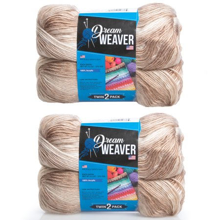 Dream Weaver (4 Pack) Gradient Color 100% Acrylic Soft Yarn for Knitting Crocheting Light #3 - Dream Weavers