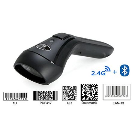 Koolertron Upgraded Dual 2 4G Wireless + Bluetooth Wireless 1D 2D Barcode  Scanner QR PDF417 Data Matrix UPC Rechargeable Bar Code Scanner for
