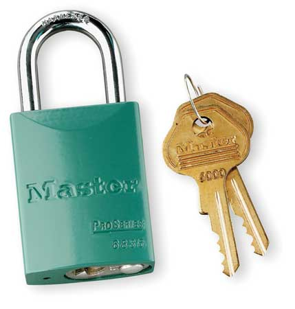 """Lockout Padlock,KA,Green,1-7/8""""H MASTER LOCK 6835KAGRN10G500"""