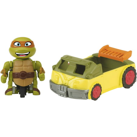 Party Figure - Teenage Mutant Ninja Turtles T-Sprints Mad Motion Mikey with Party Van Basic Figure