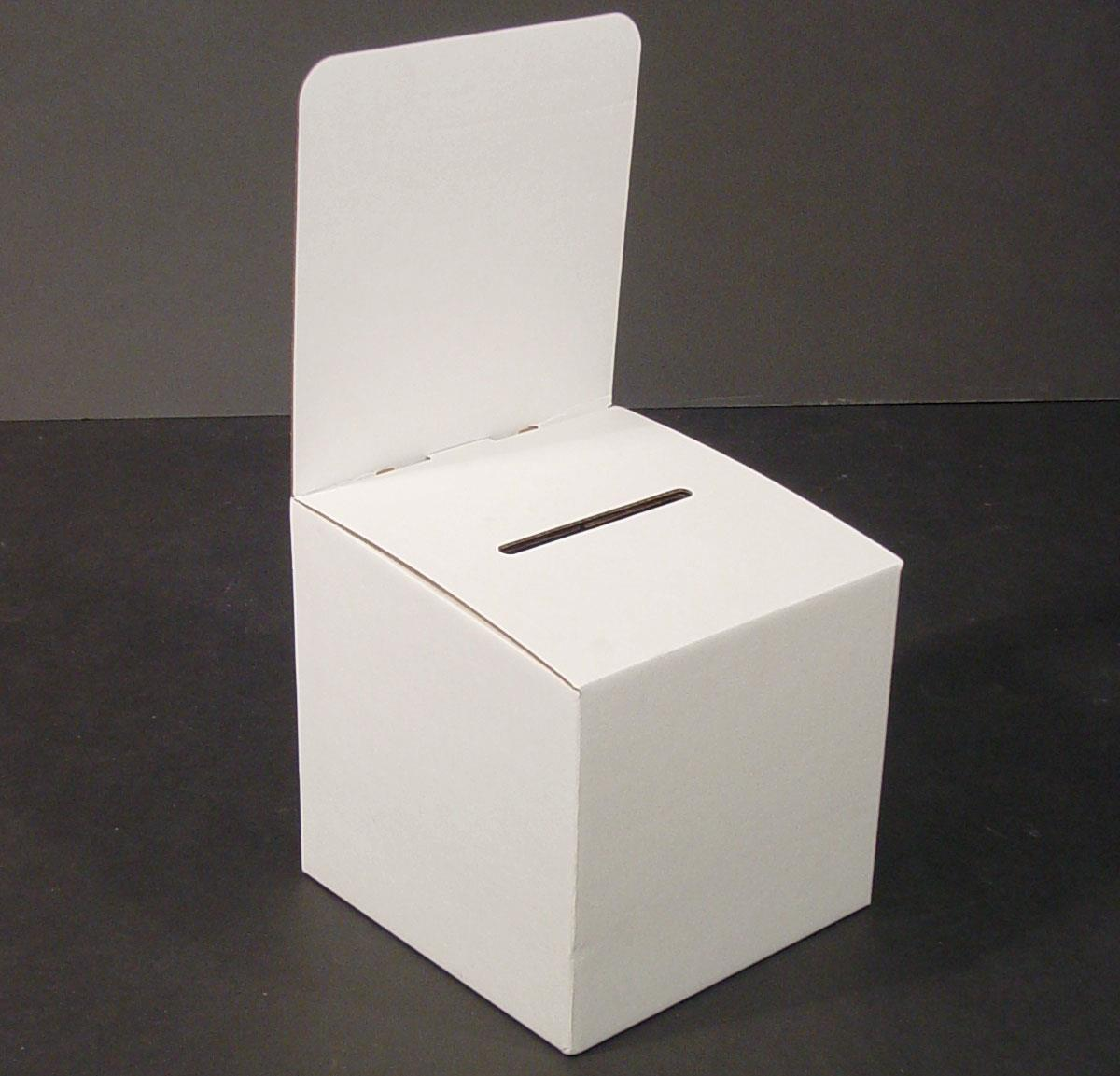 set of 10, large suggestion box with removable header, cardboard