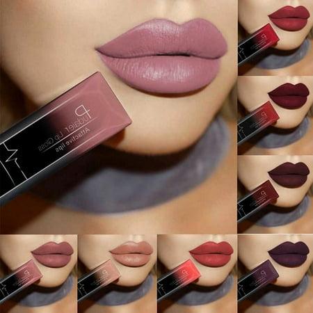 Color Gloss Lipstick - 21 Colors Lip Gloss  Waterproof Long Lasting Liquid Pencil Matte Lipstick Makeup Lip Gloss