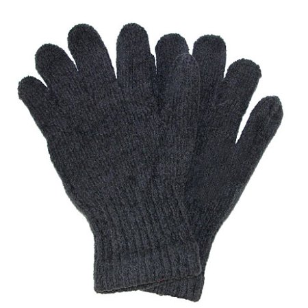 Alexa Rose Unisex Adult Gray Solid Color Soft Ribbed Cuff Winter Gloves