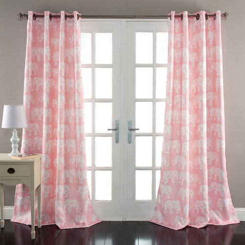 Elephant Parade Window Curtains Set
