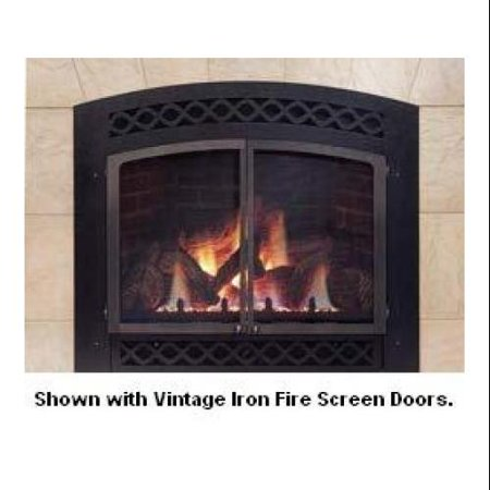 Majestic Lx36rtb Textured Black Lexington Arched Front For Lx36 Direct Vent Fireplaces