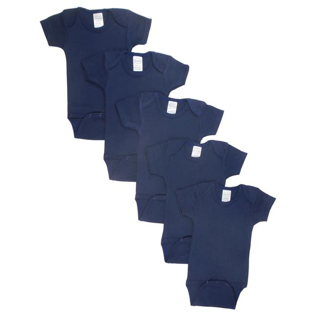LS-0195 Bodysuit, Navy - Large - Pack of 5 - image 1 of 1