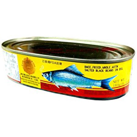 Eagle Coin WHOLE FRIED DACE with SALTED BLACK BEANS IN OIL 6.5oz (2