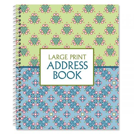 Address Form (Fresh Patterns Large Print Address Book, 56 pages, 7