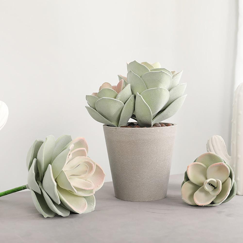 Artificial Succulent Plant Bonsai Fake Lotus Flower Balcony Desktop Decor New