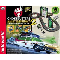 Auto World SRS317 HO Ghostbusters Haunted Highway Slot Car 14' Racing Set