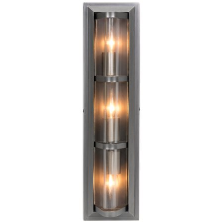 Best Choice Products 3-Light Indoor Modern Industrial Decorative Metal Wall Sconce Lighting Fixture for Bathroom Vanity, Bedroom, Entryway, Living Room w/ Triangular Glass Profile -