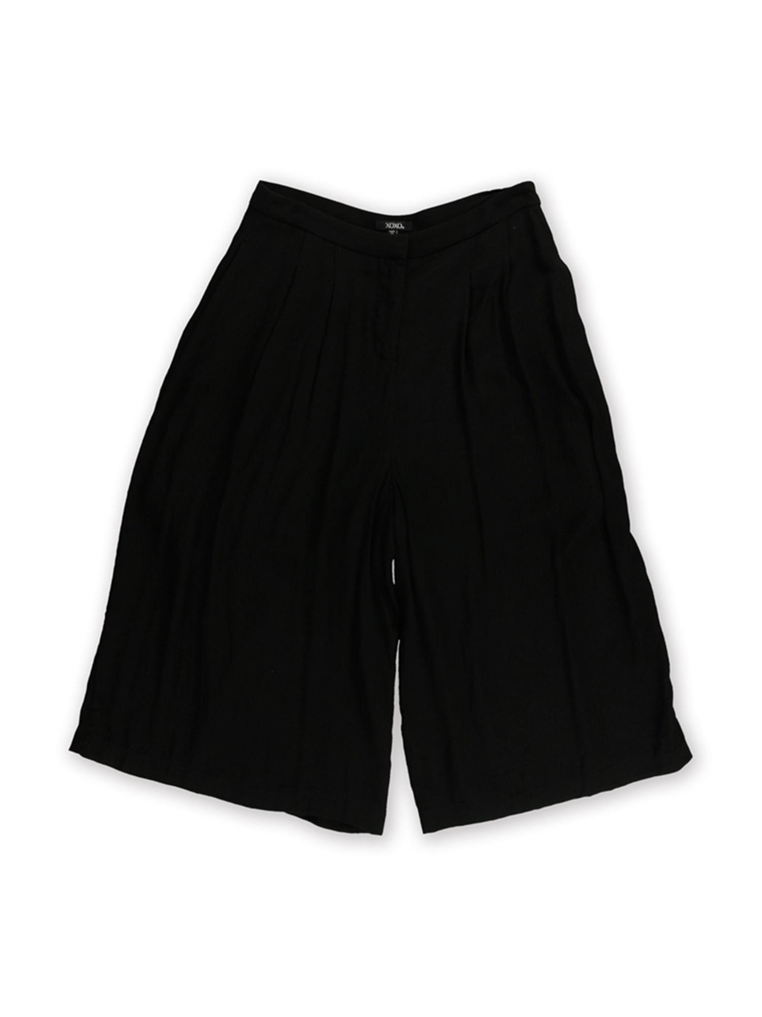 XOXO Womens Solid Culotte Dress Trousers bk 9/10x14 - Juniors
